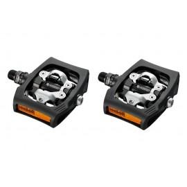 Pedali T400 Click-R SPD Neri Con Tacchette SM-SH56